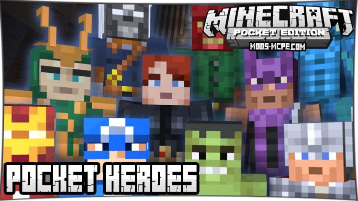 Pocket Heroes - мод на супергероев 1.5, 1.4, 1.2, 1.1.5