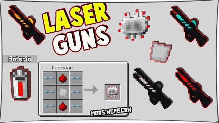 Laser Guns - мод на лазерные пушки